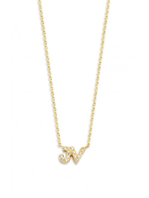 Just Franky Just Diamond Necklace 2 Initials