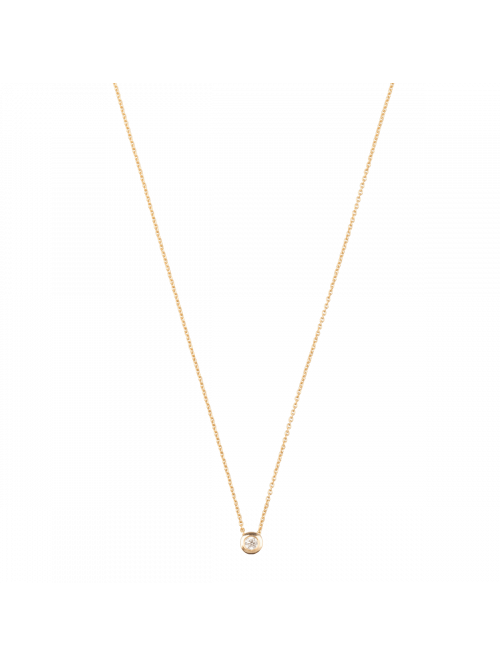 Just Franky Capital Necklace 1 Diamond
