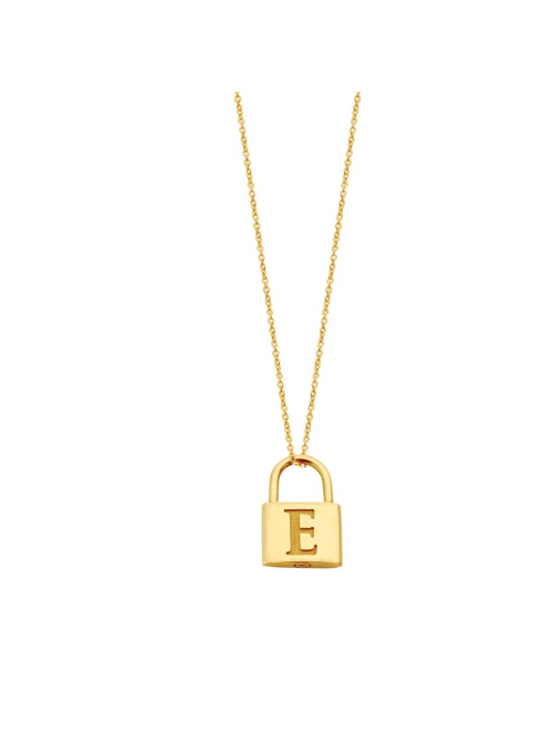 Just Franky Charm Lock Necklace 60 cm