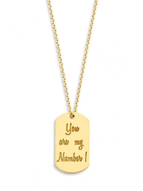 Just Franky Tag Necklace 60 cm