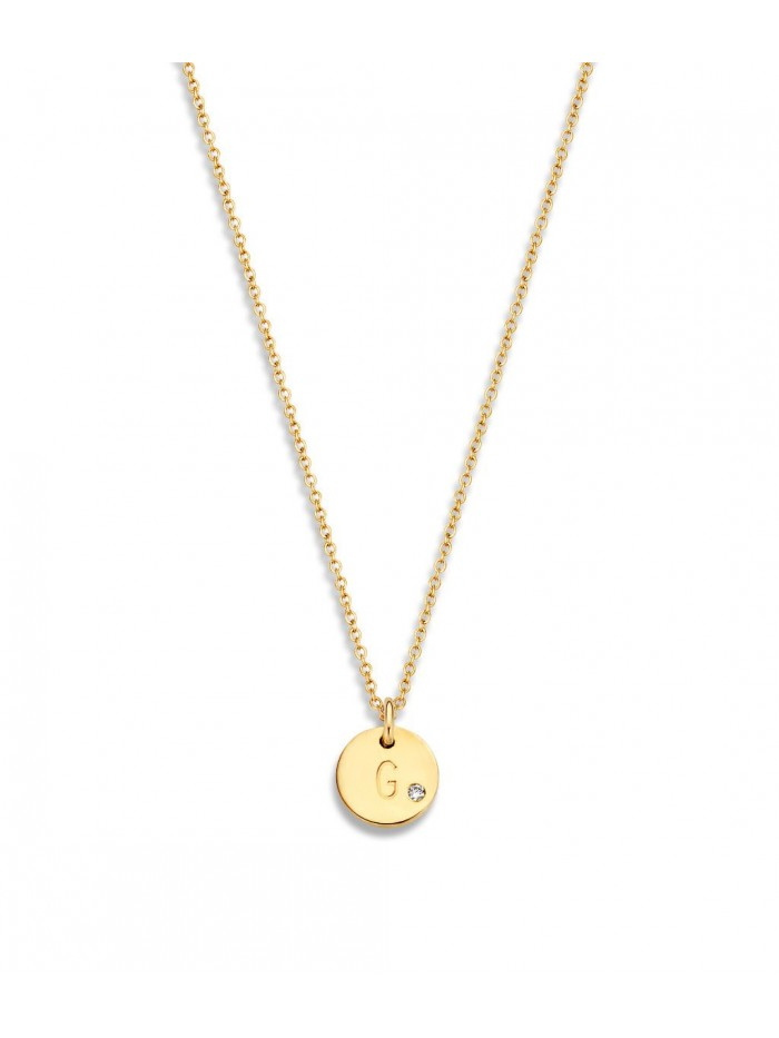 Just Franky Coin Necklace 1 Diamond Coin