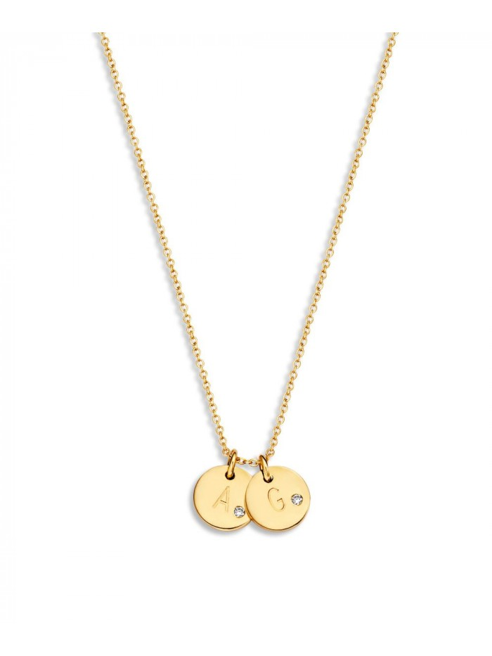 Just Franky Coin Necklace 2 Diamond Coins