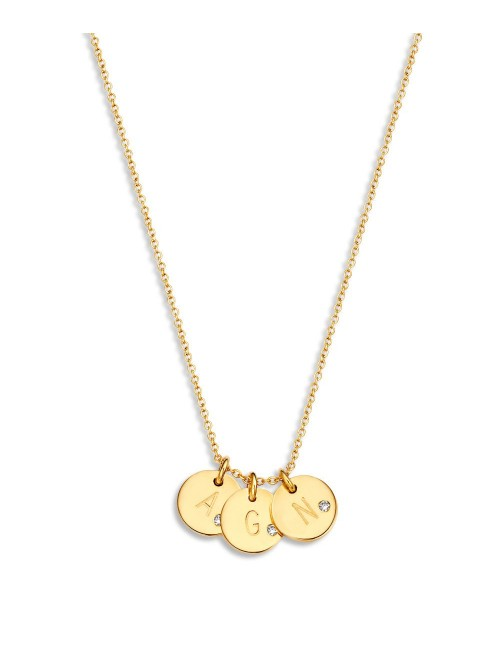 Just Franky Coin Necklace 3 Diamond Coins