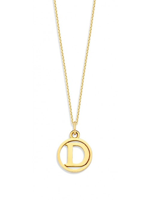 Just Franky Charm Necklace with Letter