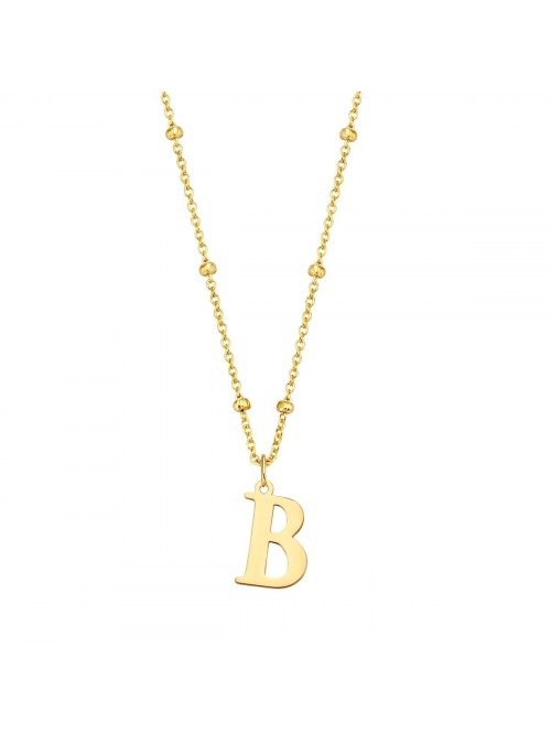 Just Franky Charm Initial XL Bolletjes Collier