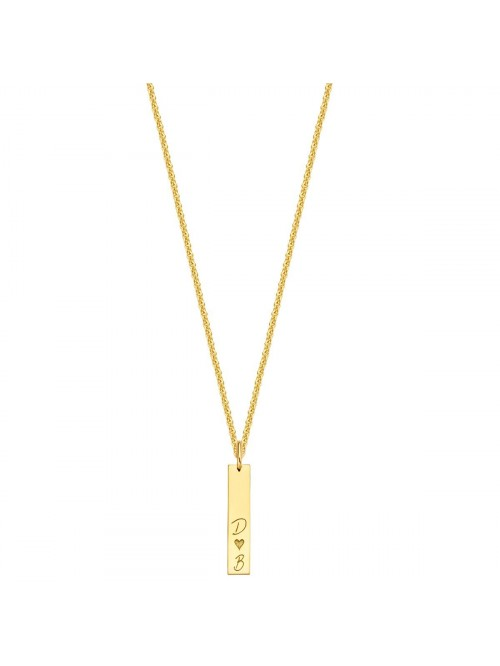 Just Franky Identity Charm Vertical Bar with Neckl...