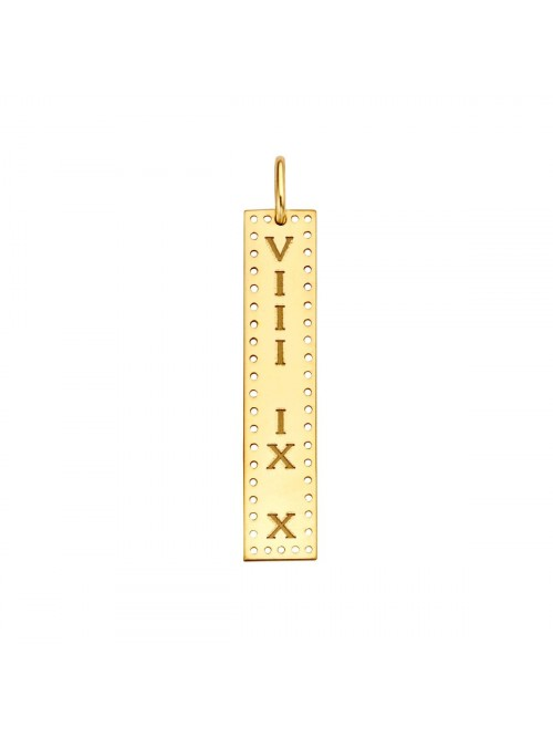 Just Franky Identity Charm Vertical Bar Perforated