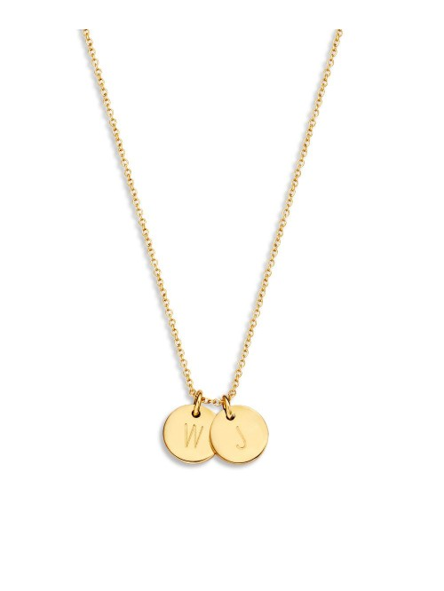 Just Franky Coin Necklace 2 Coins