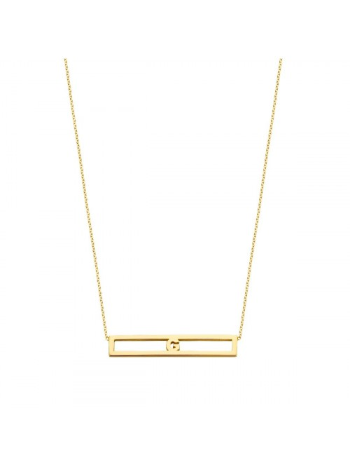 Just Franky Love Bar Necklace 1 Letter