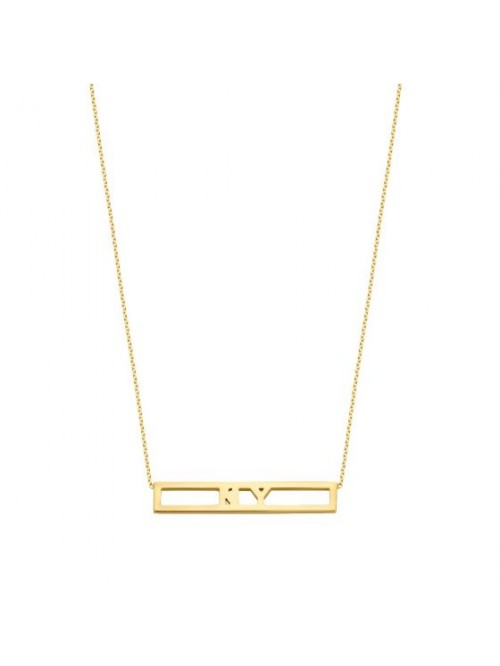 Just Franky Love Bar Necklace 2 Letters