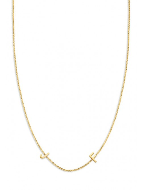 Just Franky Love Letter Necklace 2 Initials