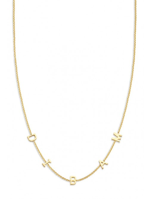 Just Franky Love Letter Necklace 5 Initials