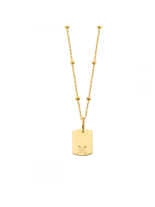 Just Franky Mini Tag Necklace bolletjes
