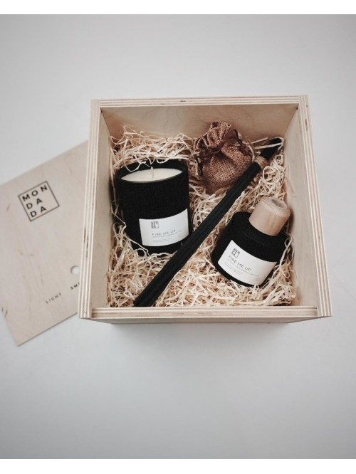 Mon Dada Black Collection Candle & Diffuser Gi...