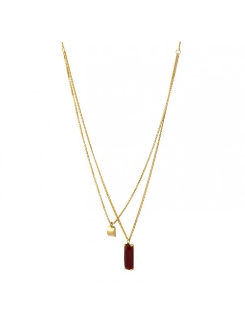 Studio Collect Double Red Agate Necklace KK4GP
