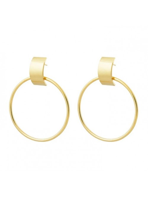Studio Collect Large Curved Element Hoops KO12GP