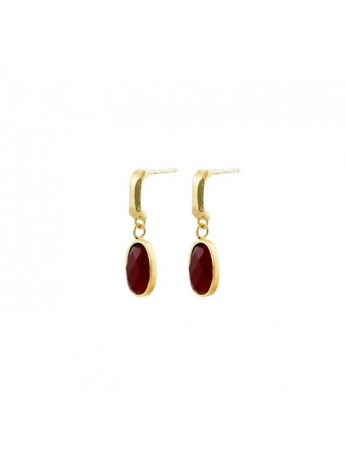 Studio Collect Subtle Oval Red Agate Earrings KO3G...