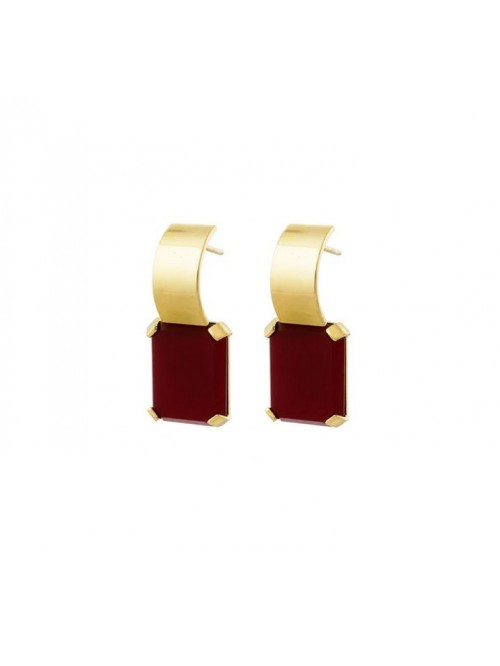 Studio Collect Curved Red Agate Earrings KO6GP