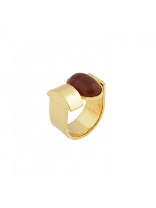 Studio Collect Open Carnelian Agate Statement Ring...