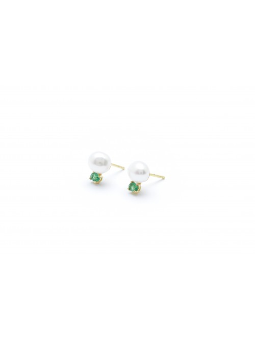 Wouters & Hendrix 18kt Gold Earrings with Fres...