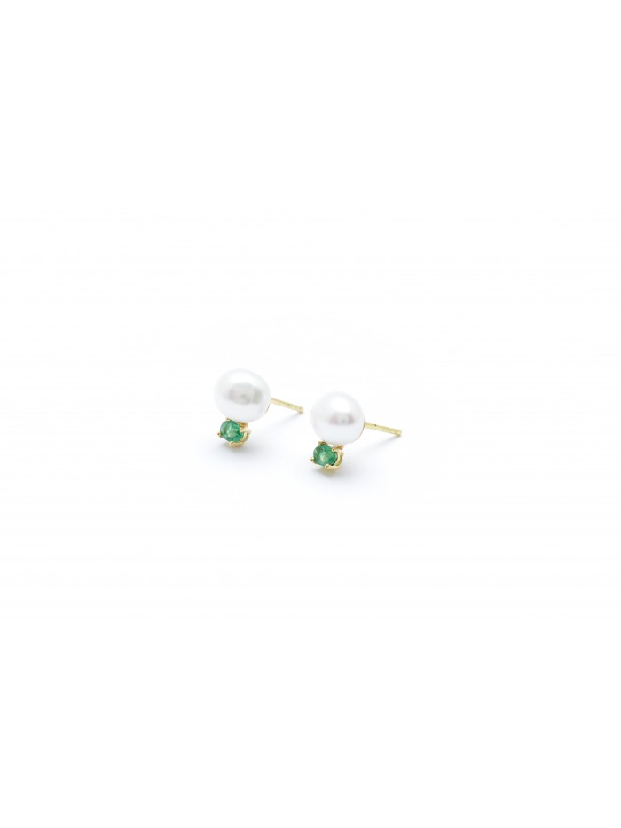 Wouters & Hendrix 18kt Gold Earrings with Freshwater Pearl EGC0150