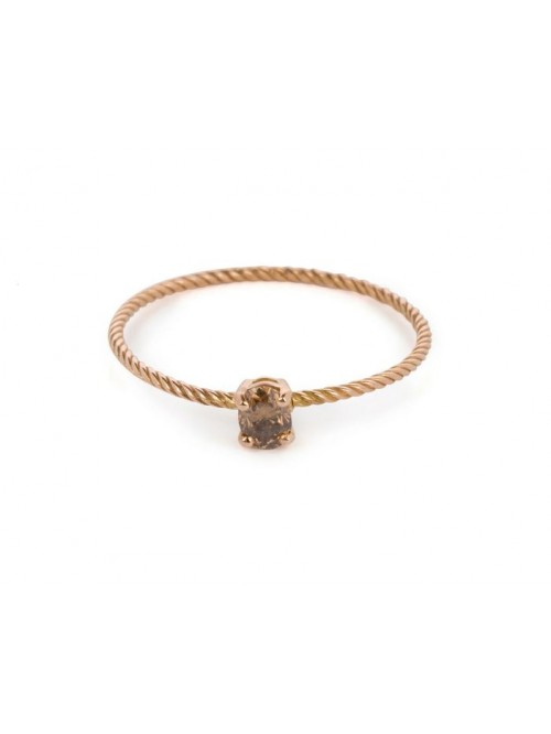Wouters & Hendrix 18kt Gold twisted Ring with ...